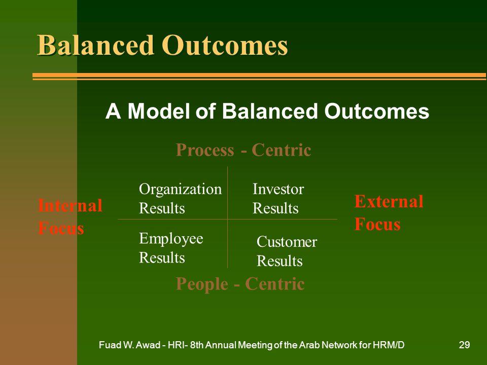 A Model of Balanced Outcomes