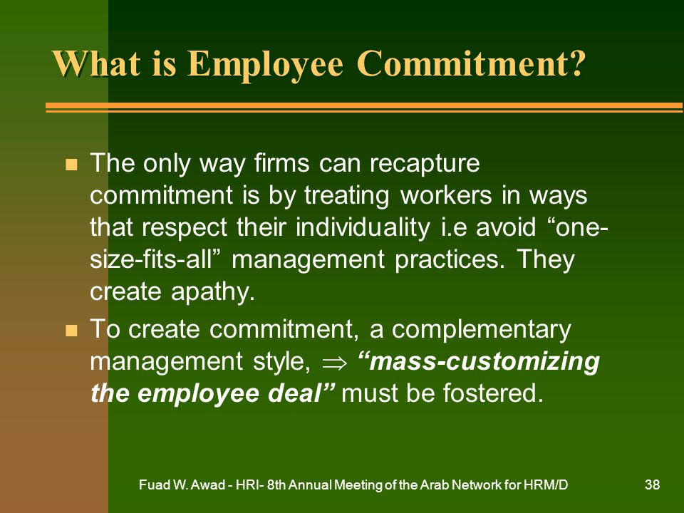 What is Employee Commitment