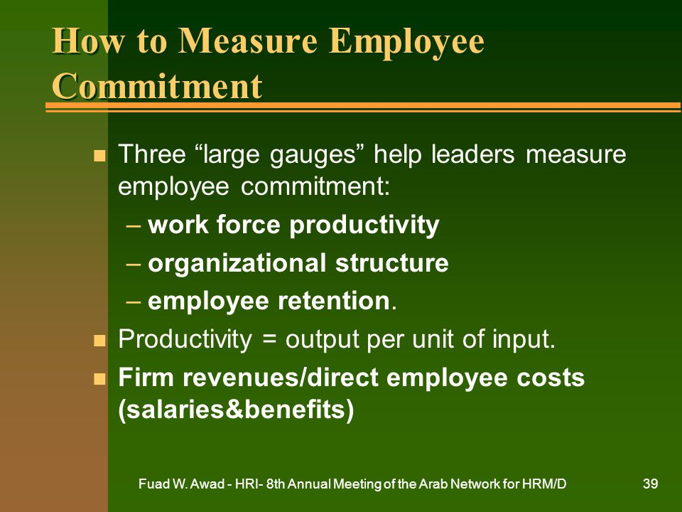 How to Measure Employee Commitment