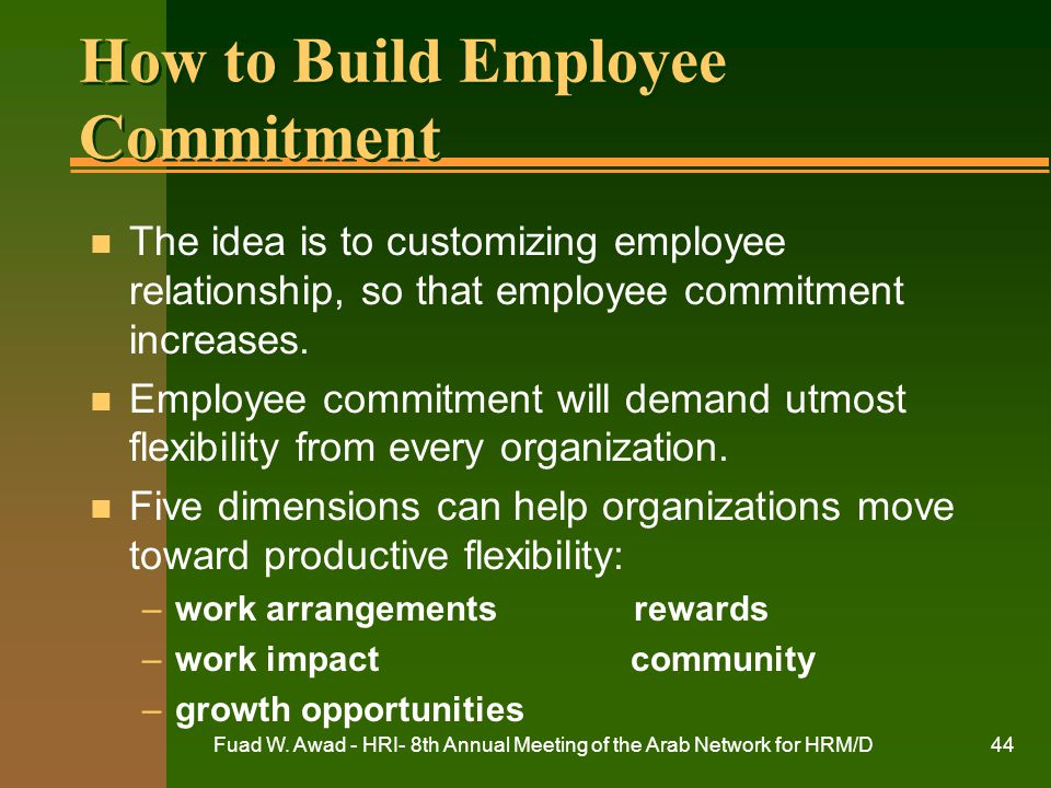 How to Build Employee Commitment