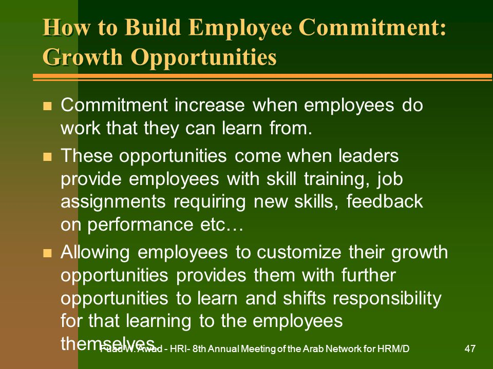How to Build Employee Commitment: Growth Opportunities