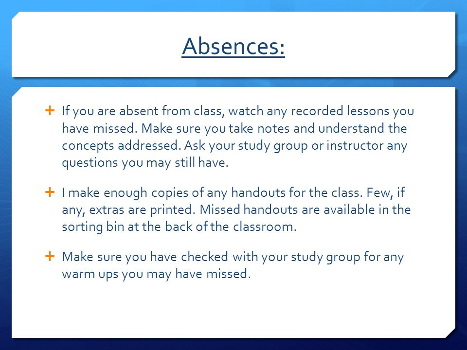 Absences:
