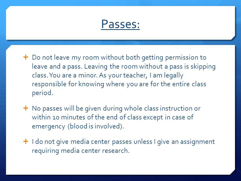 Passes: