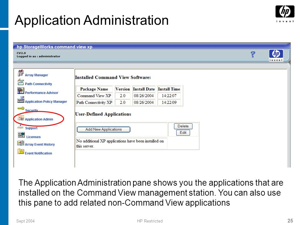 Application Administration