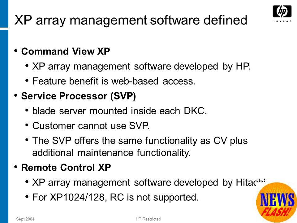 XP array management software defined