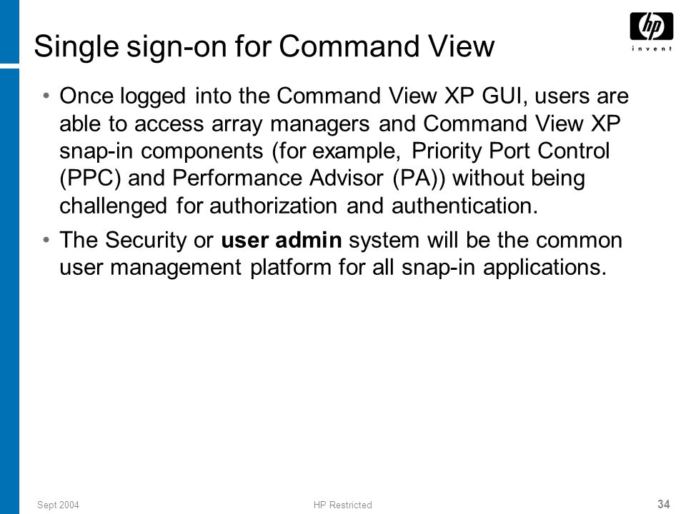 Single sign-on for Command View