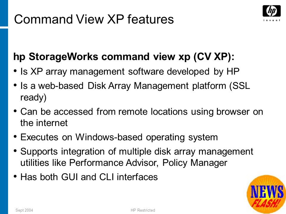 Command View XP features