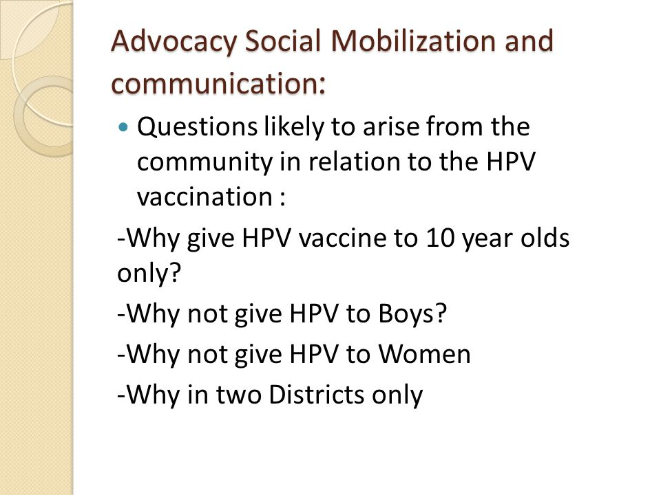 Advocacy Social Mobilization and communication: