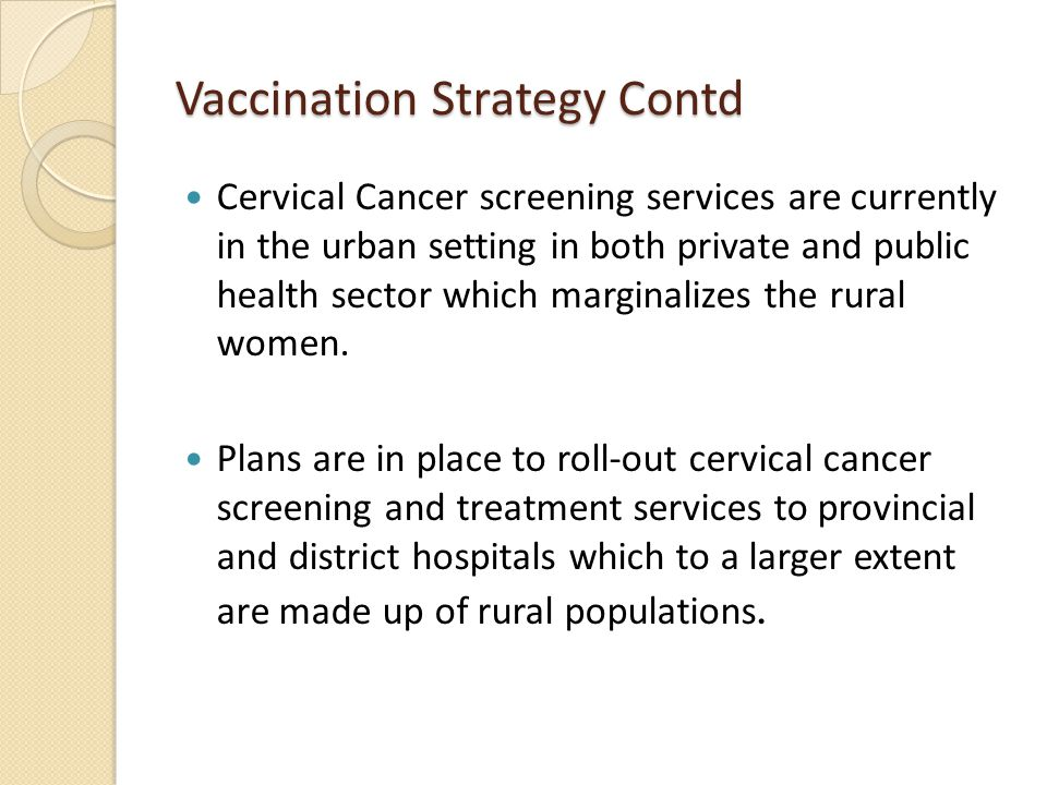 Vaccination Strategy Contd