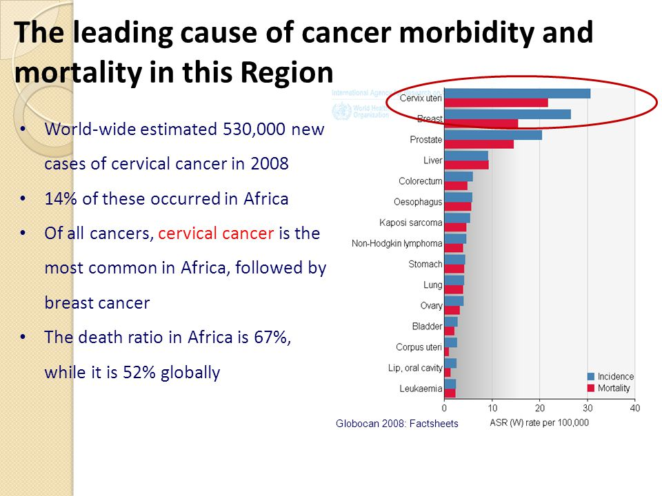 The leading cause of cancer morbidity and mortality in this Region