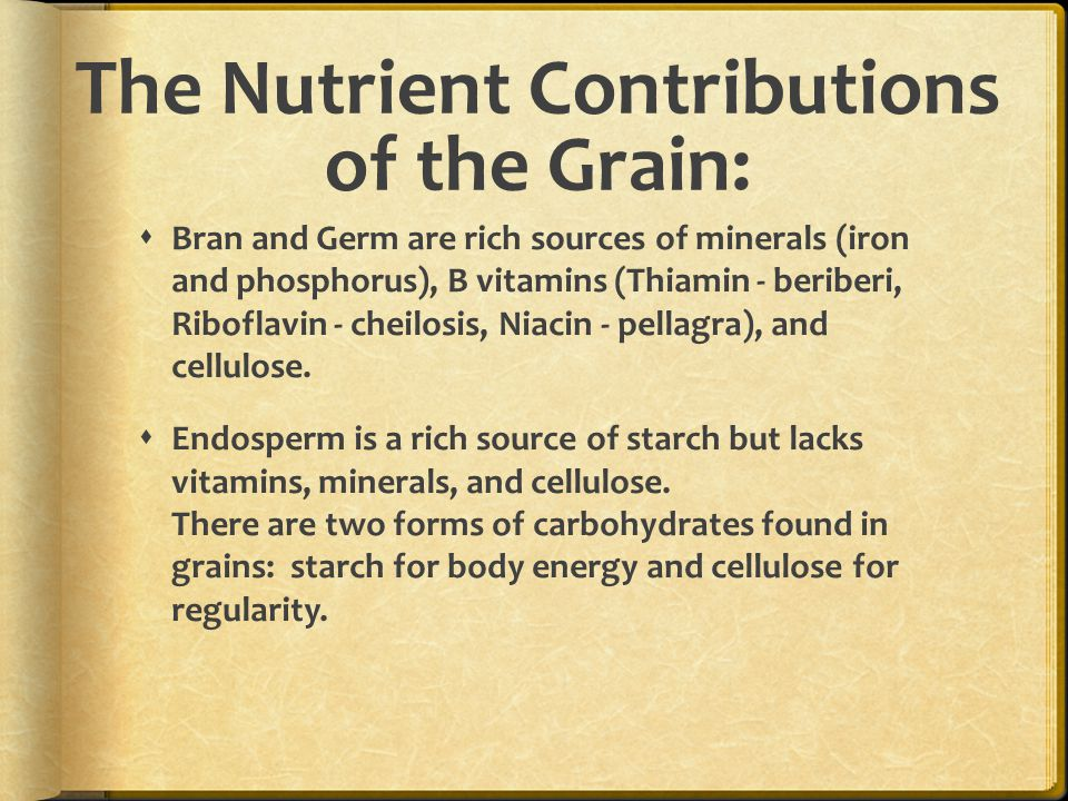The Nutrient Contributions of the Grain: