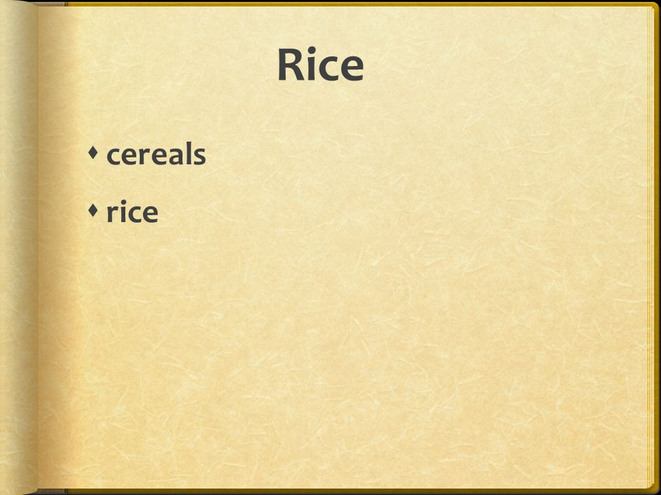 Rice cereals rice