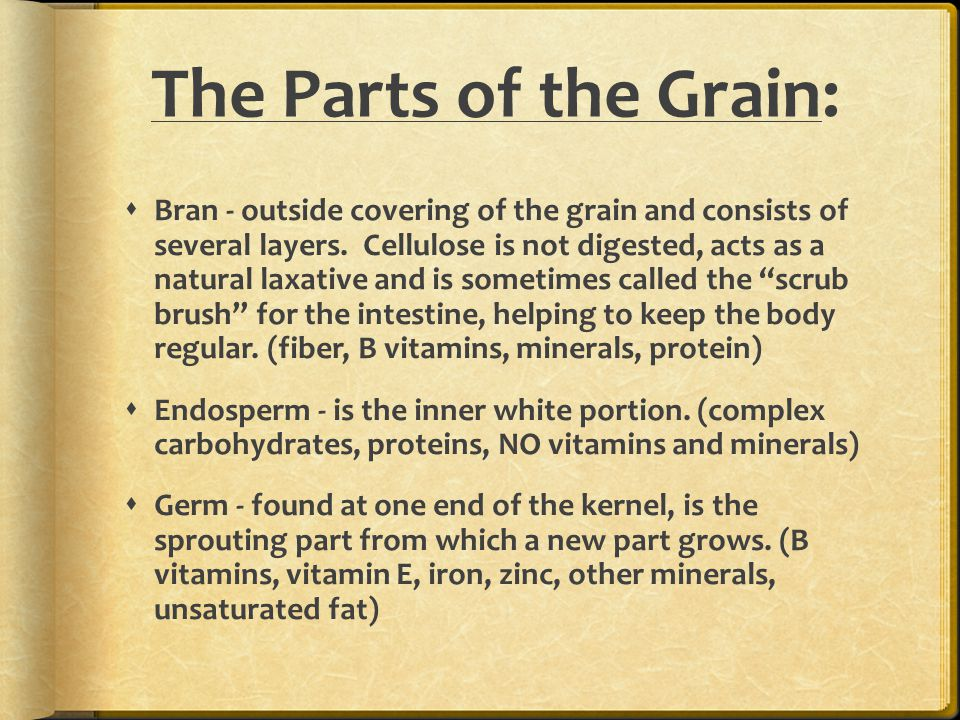 The Parts of the Grain: