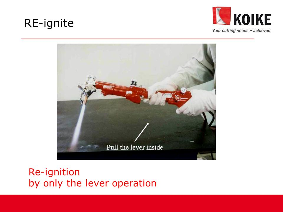 Re-ignition by only the lever operation