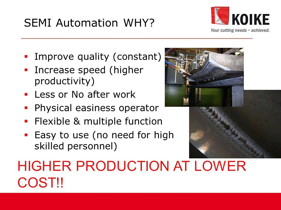 HIGHER PRODUCTION AT LOWER COST!!
