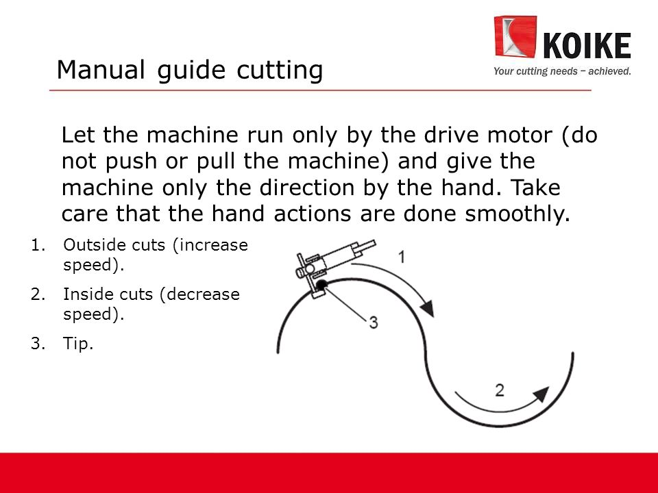 Manual guide cutting