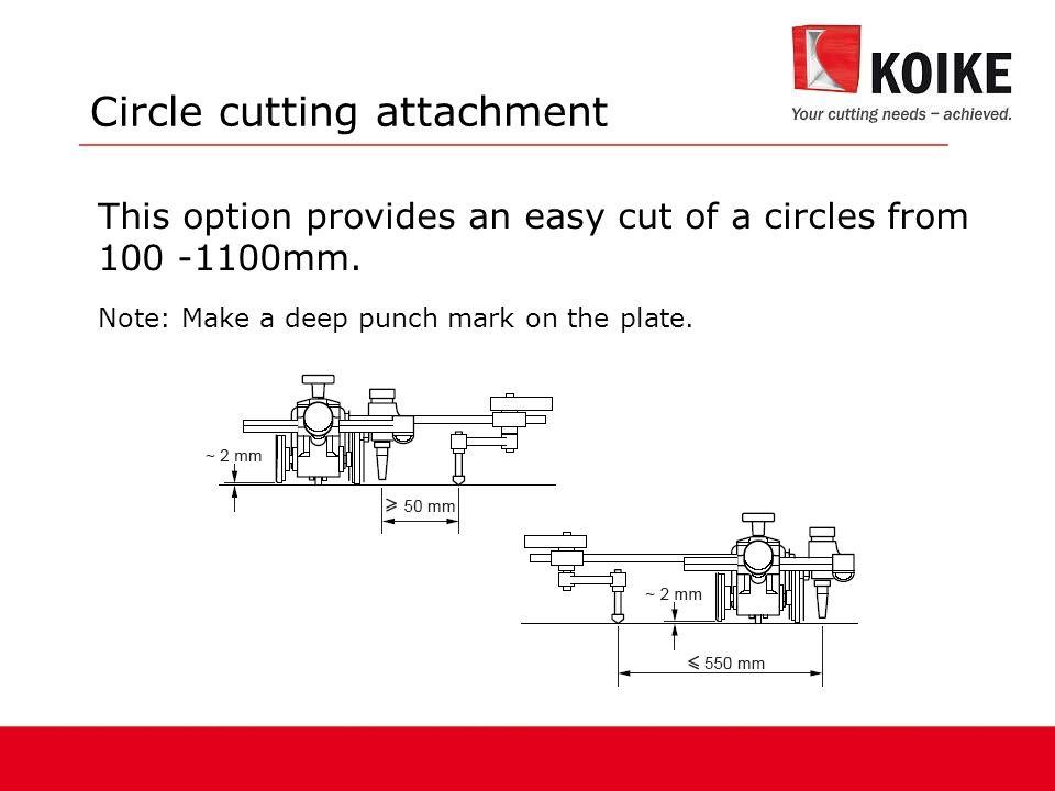 Circle cutting attachment
