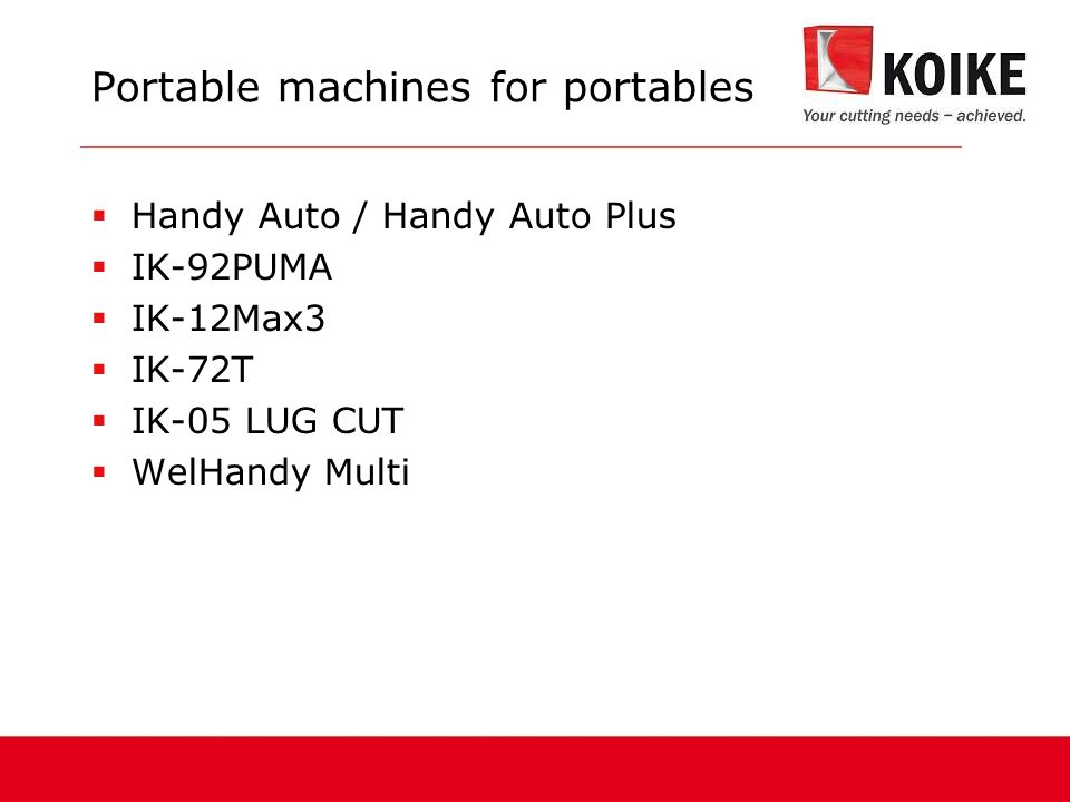 Portable machines for portables