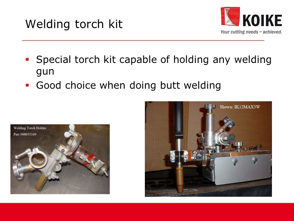 Welding torch kit Special torch kit capable of holding any welding gun