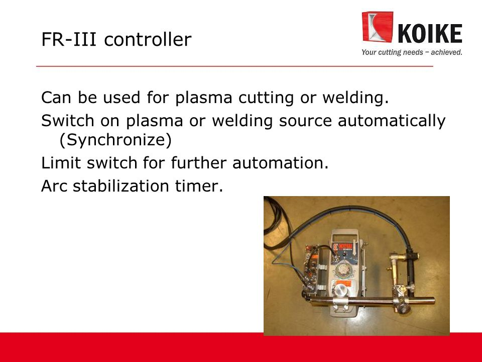 FR-III controller Can be used for plasma cutting or welding.