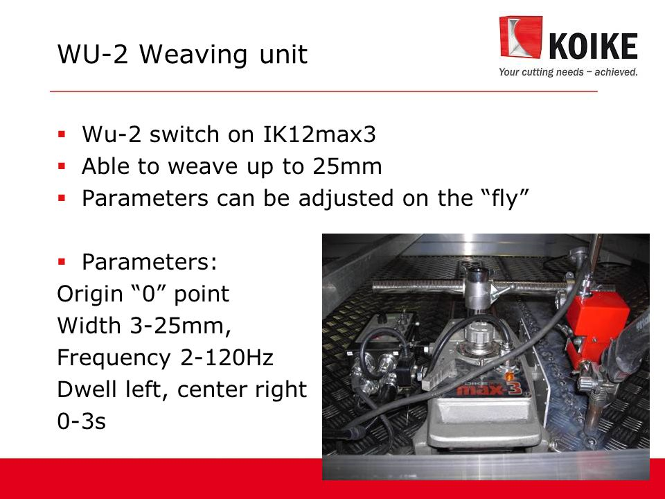 WU-2 Weaving unit Wu-2 switch on IK12max3 Able to weave up to 25mm