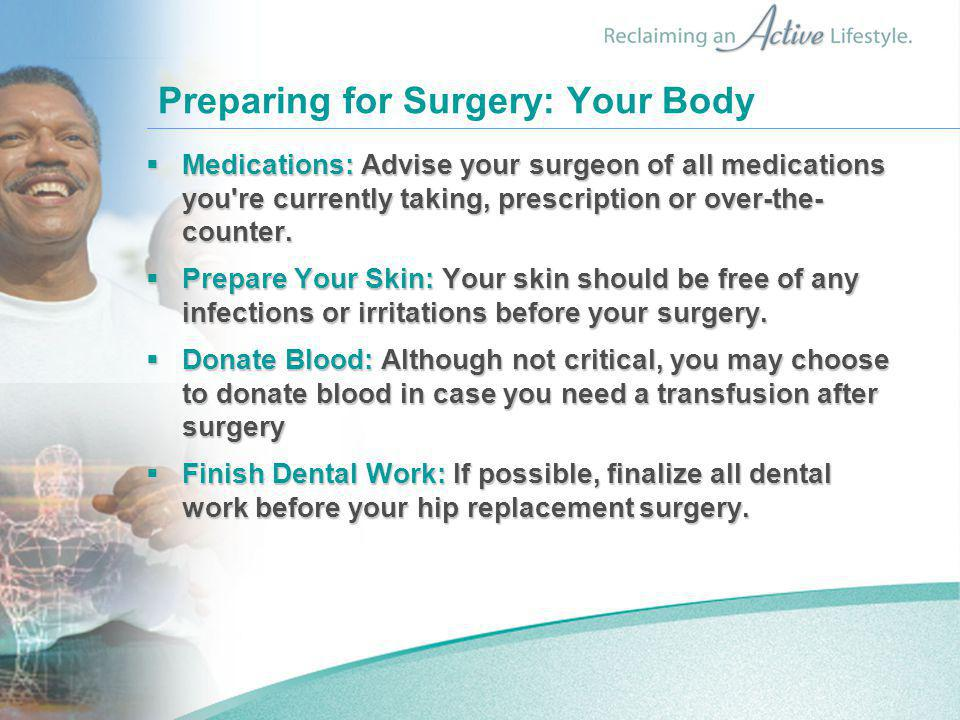 Preparing for Surgery: Your Body