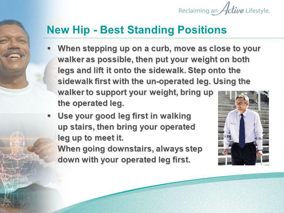 New Hip - Best Standing Positions