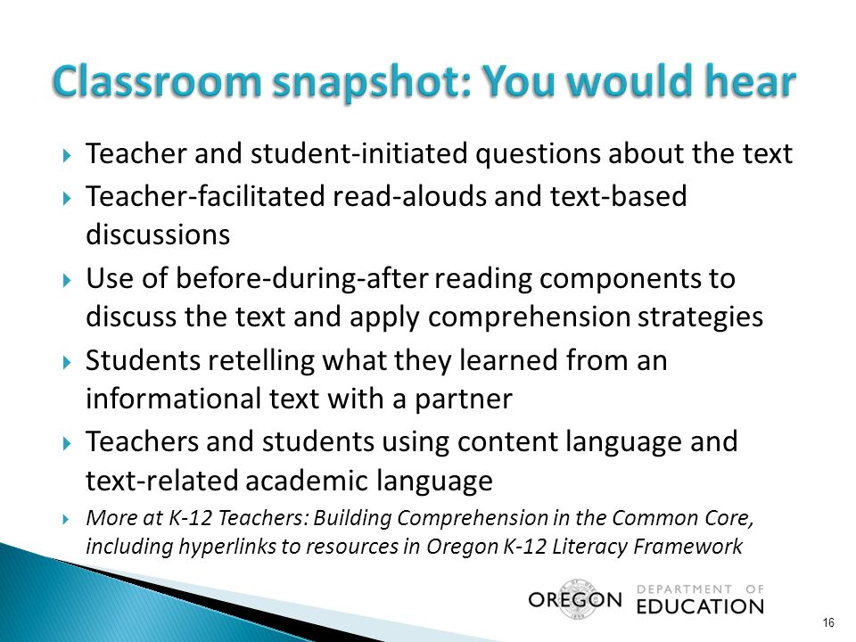 Classroom snapshot: You would hear