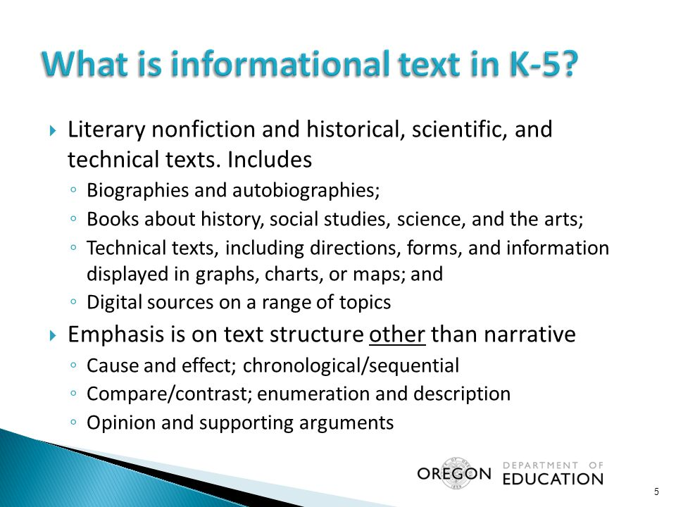 What is informational text in K-5