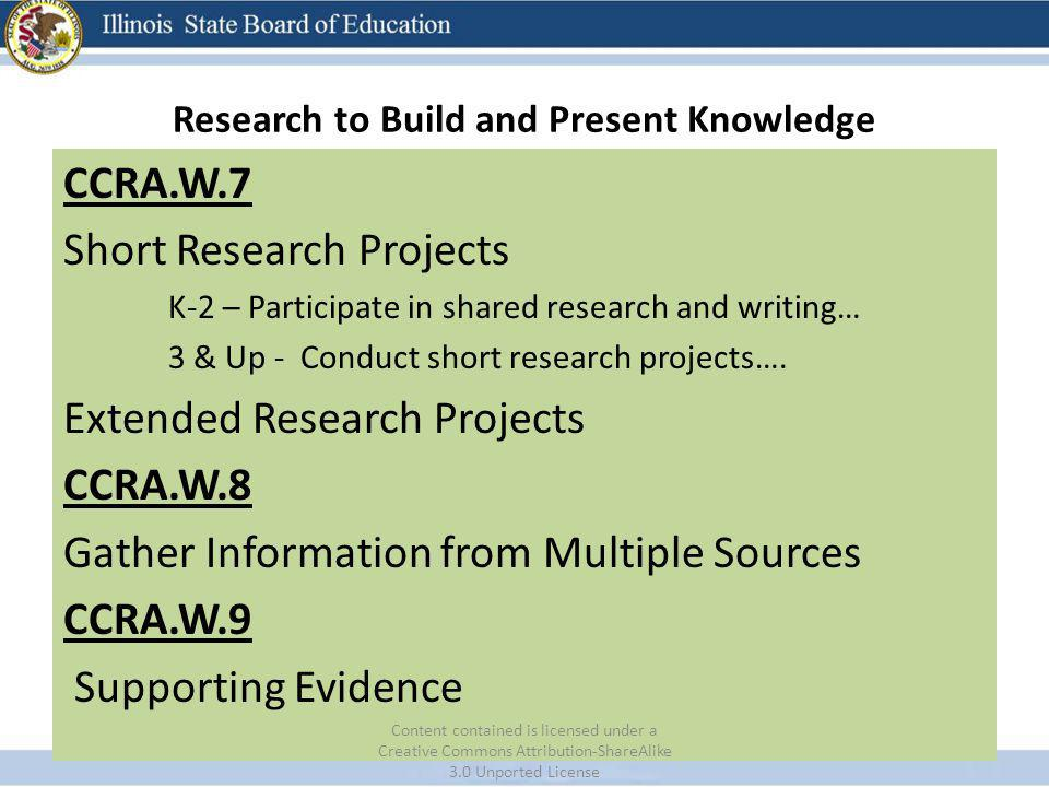 Research to Build and Present Knowledge