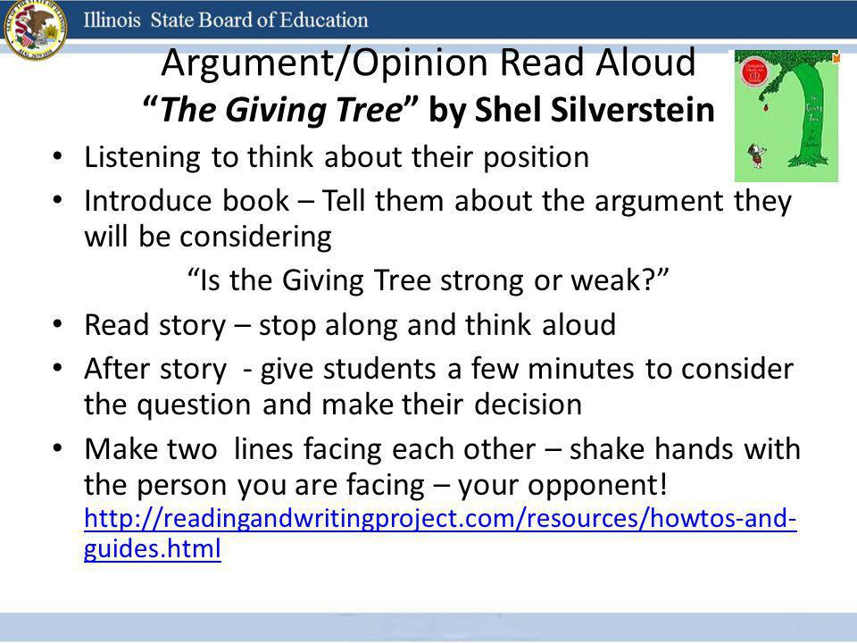 Argument/Opinion Read Aloud