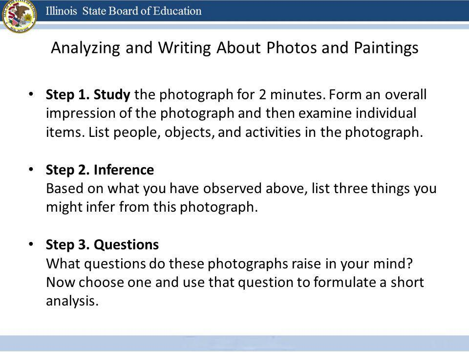 Analyzing and Writing About Photos and Paintings