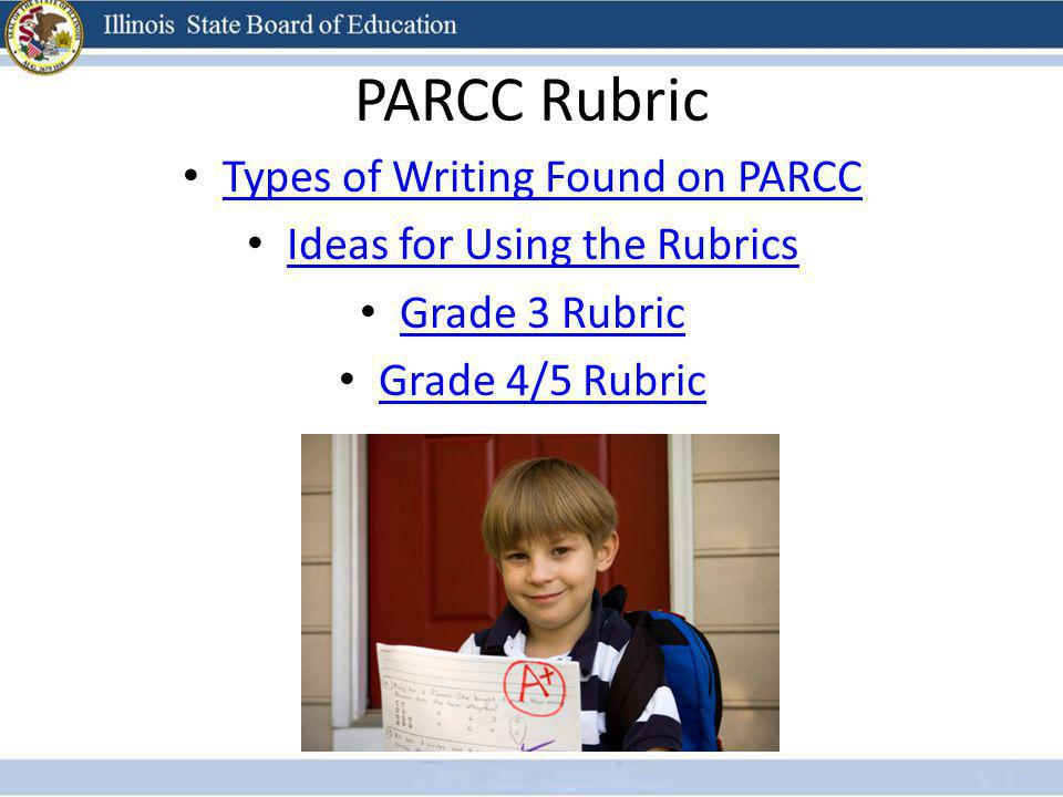 PARCC Rubric Types of Writing Found on PARCC