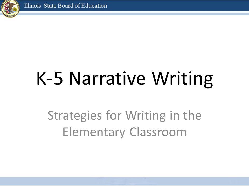 narrative writing strategies