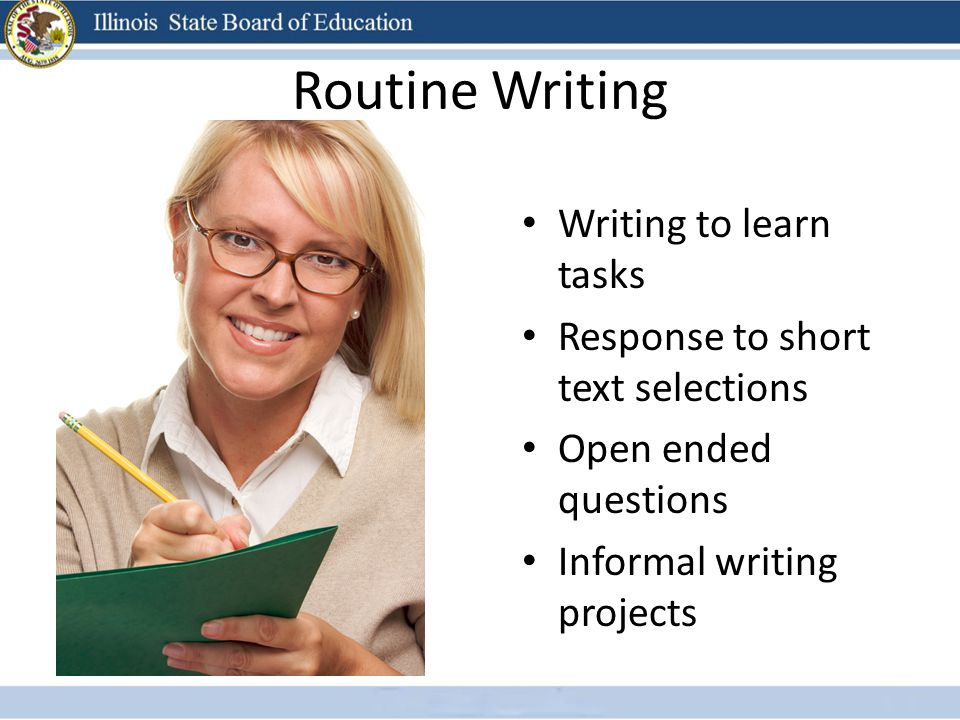 Routine Writing Writing to learn tasks