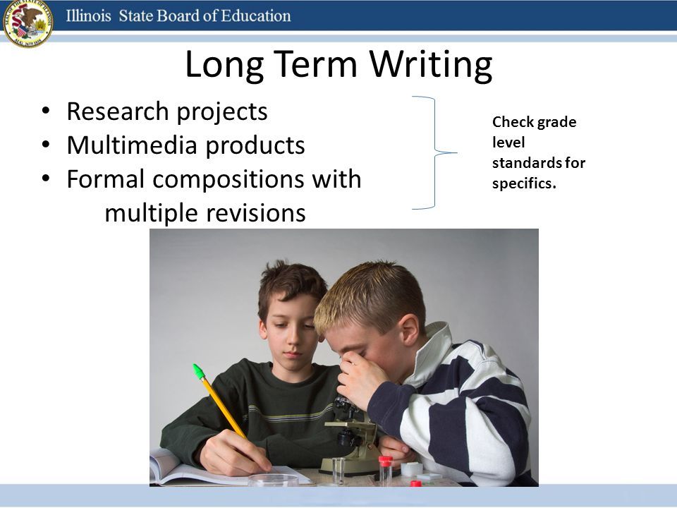 Long Term Writing Research projects Multimedia products