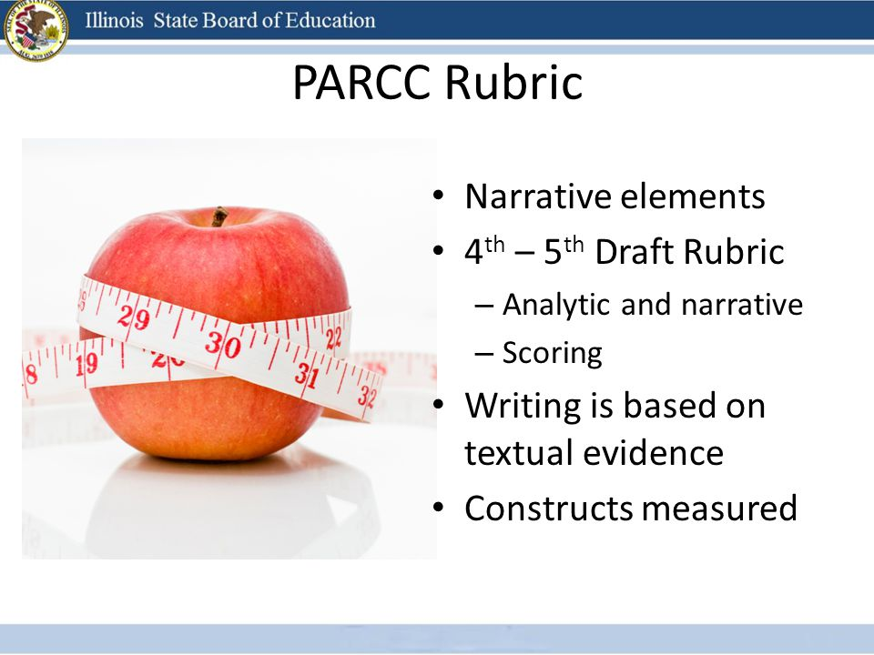 PARCC Rubric Narrative elements 4th – 5th Draft Rubric