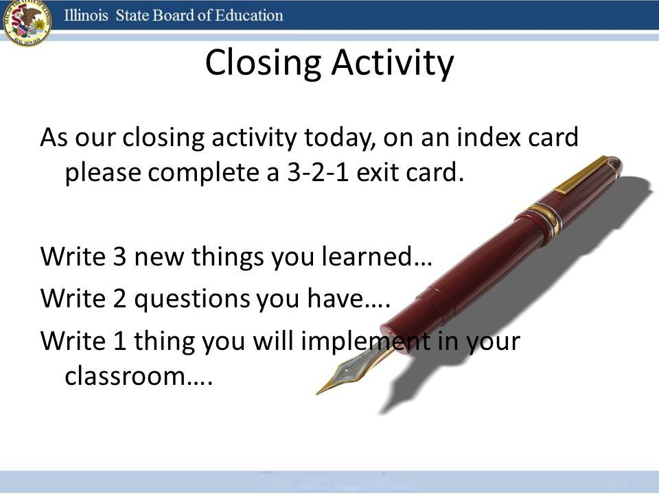 Closing Activity