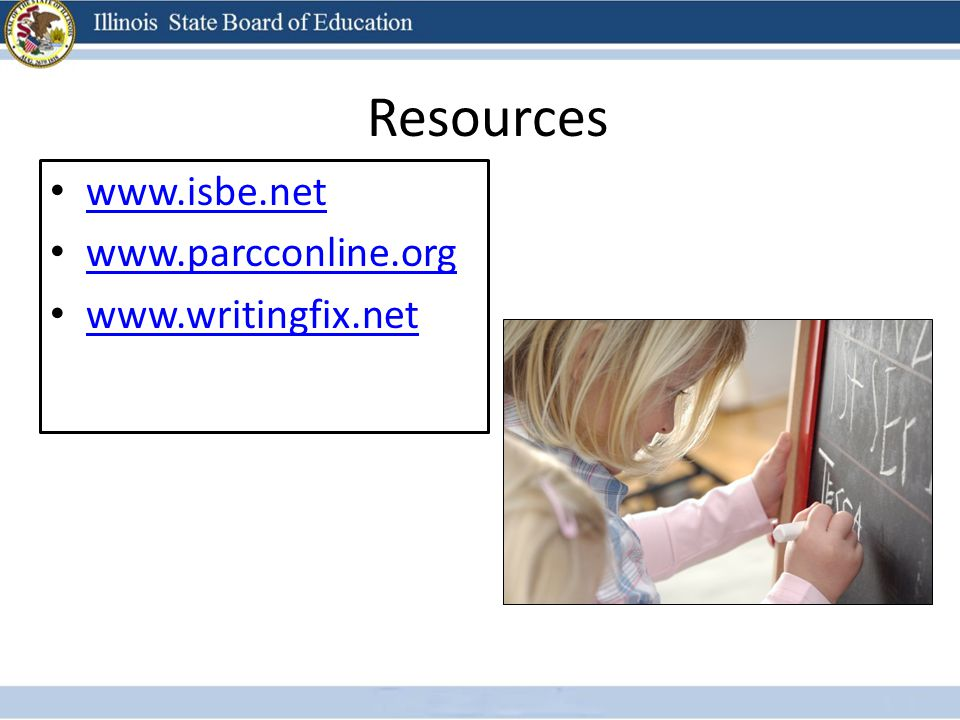 Resources www.isbe.net www.parcconline.org www.writingfix.net