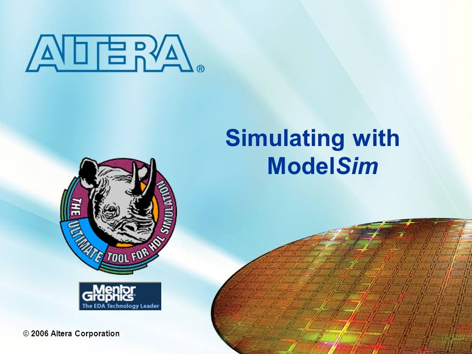 Simulating with ModelSim