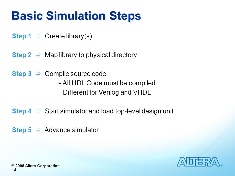 Basic Simulation Steps