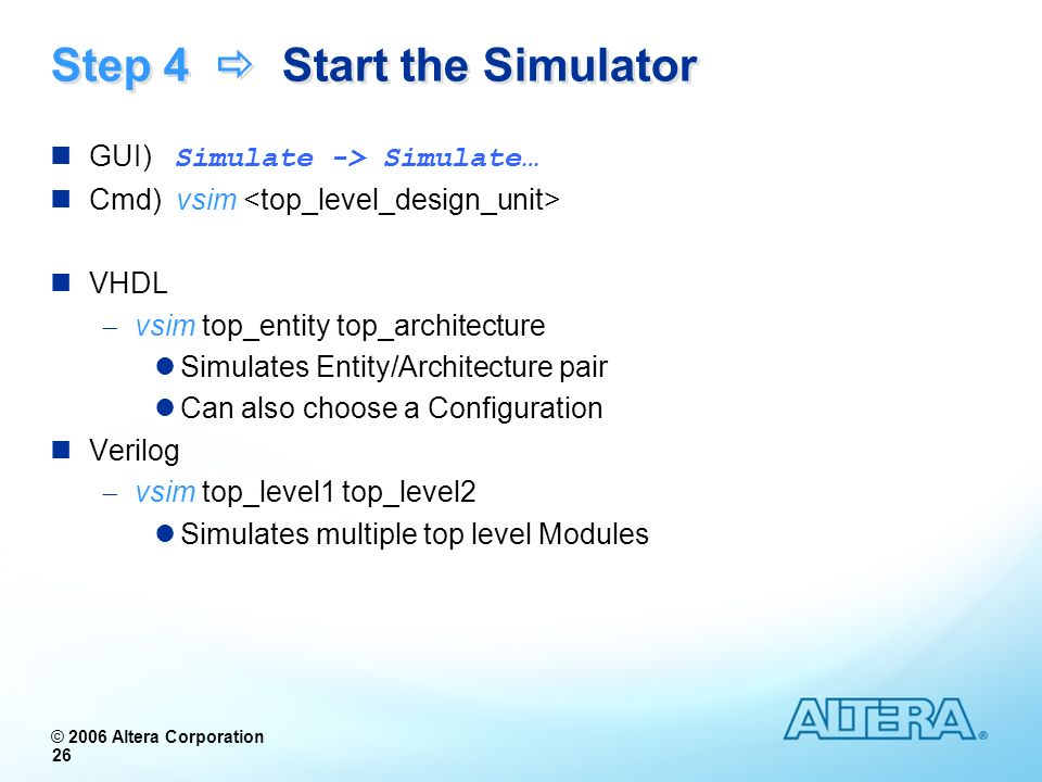 Step 4  Start the Simulator