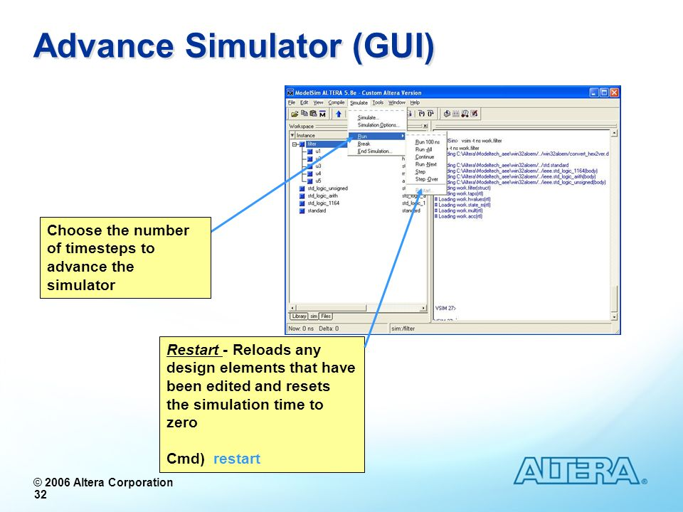 Advance Simulator (GUI)