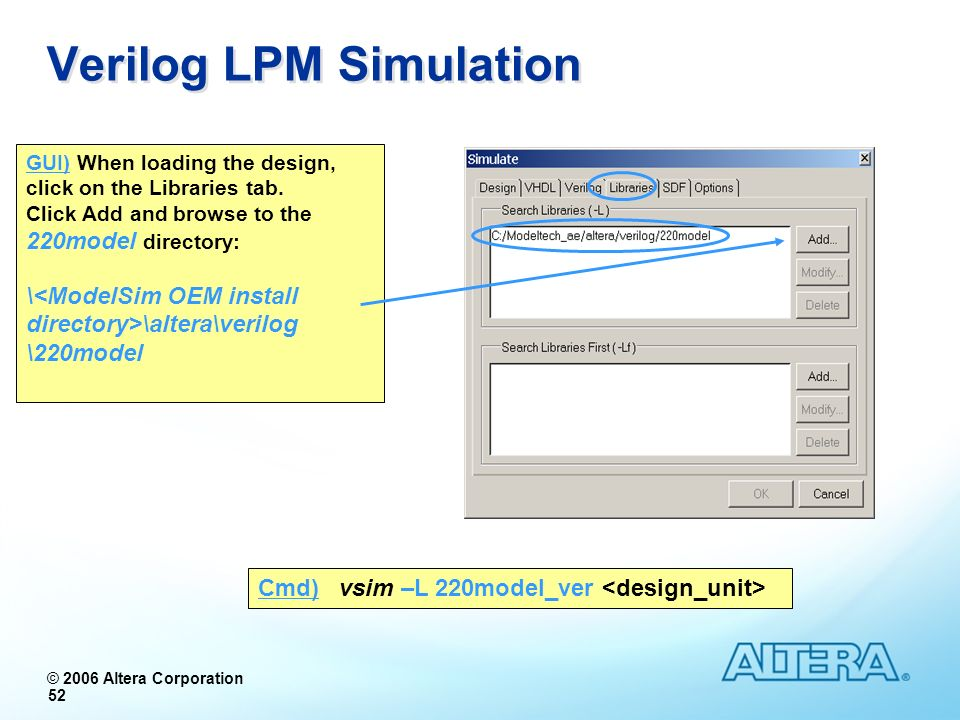 Verilog LPM Simulation