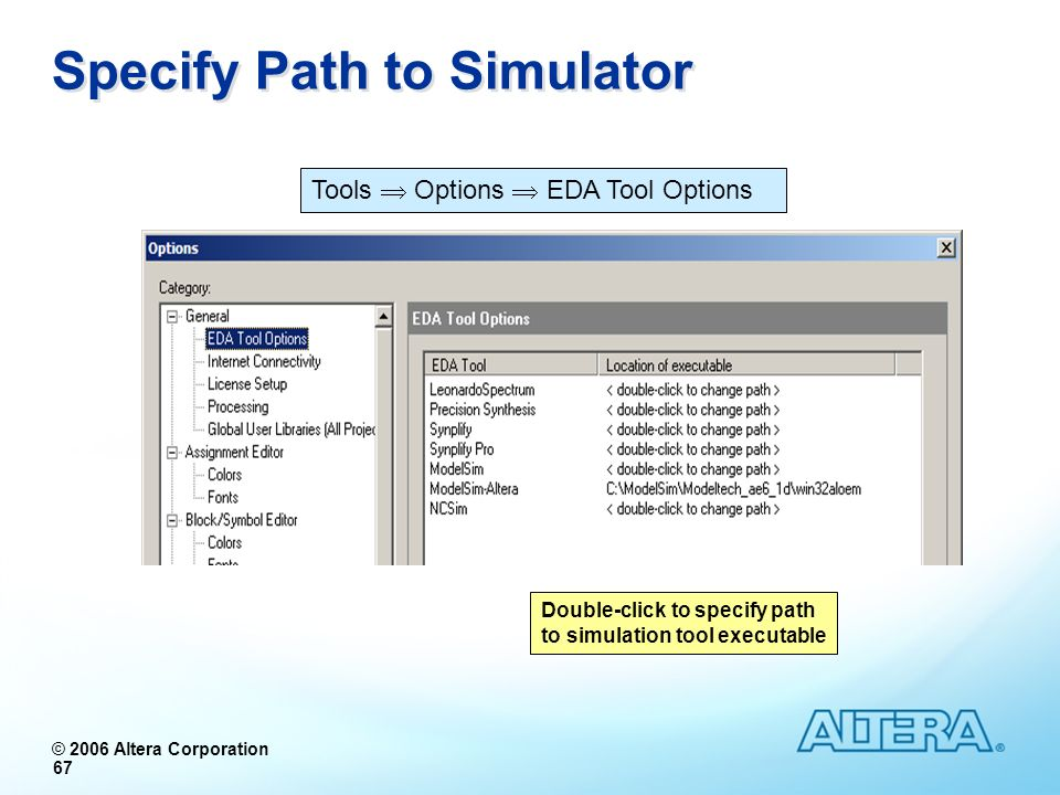 Specify Path to Simulator