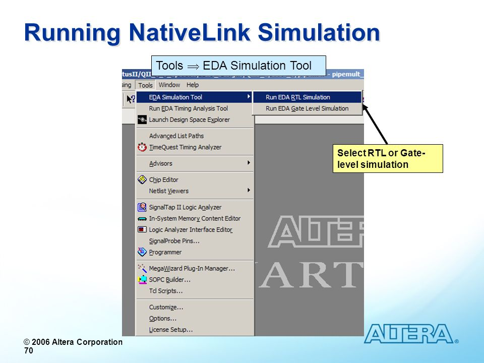 Running NativeLink Simulation