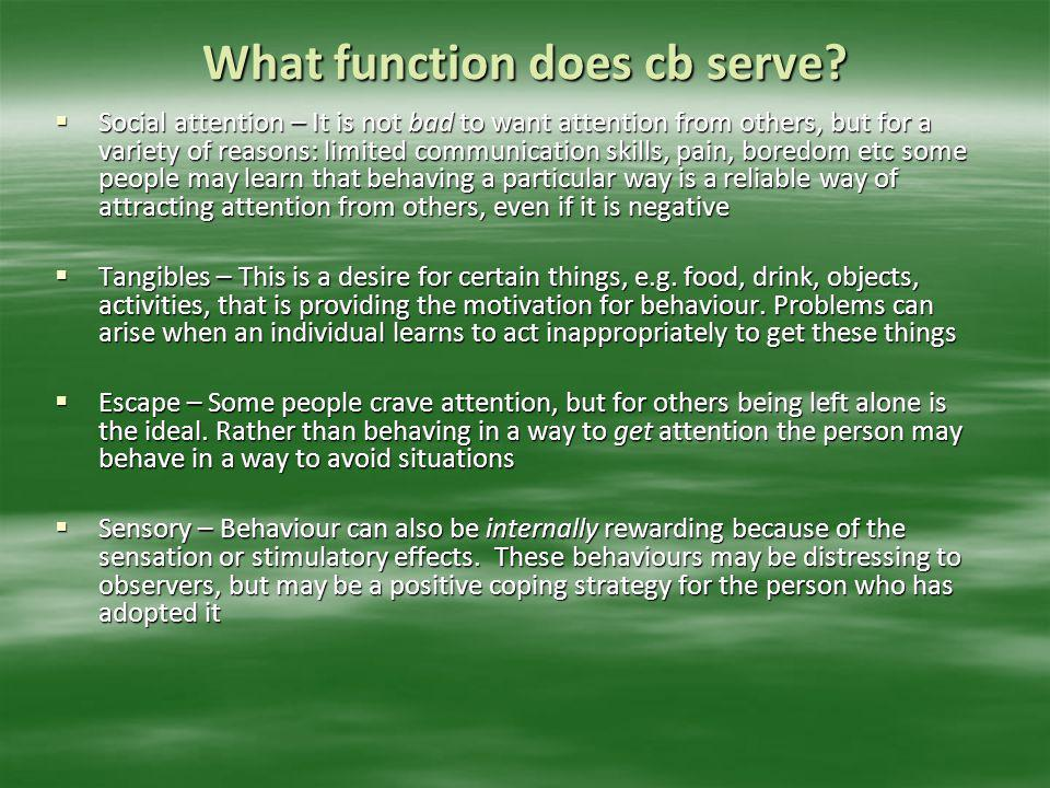 What function does cb serve