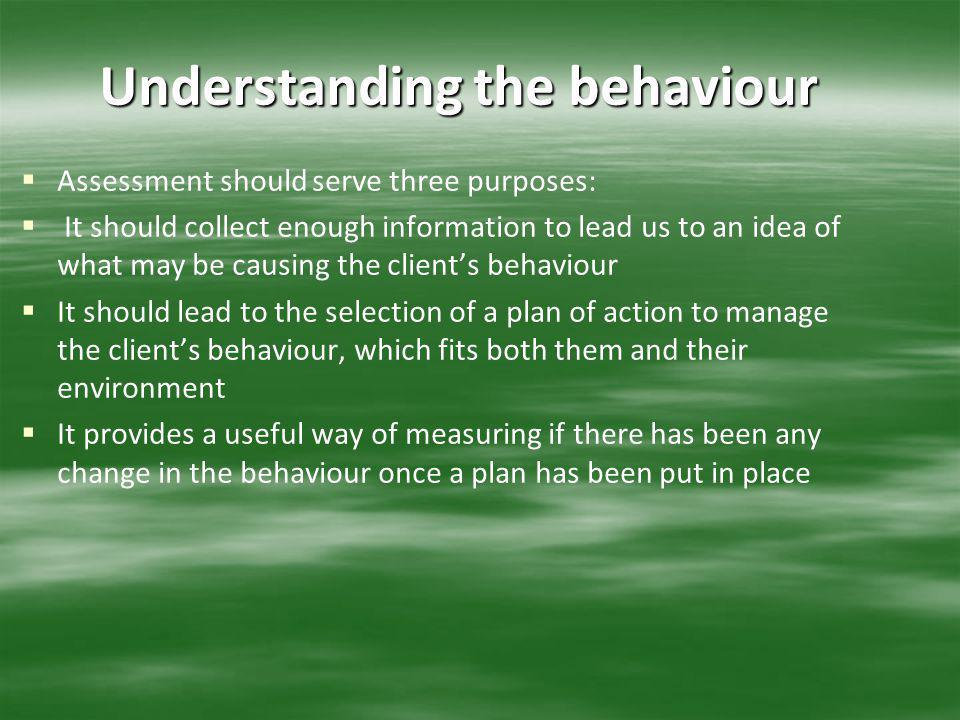 Understanding the behaviour