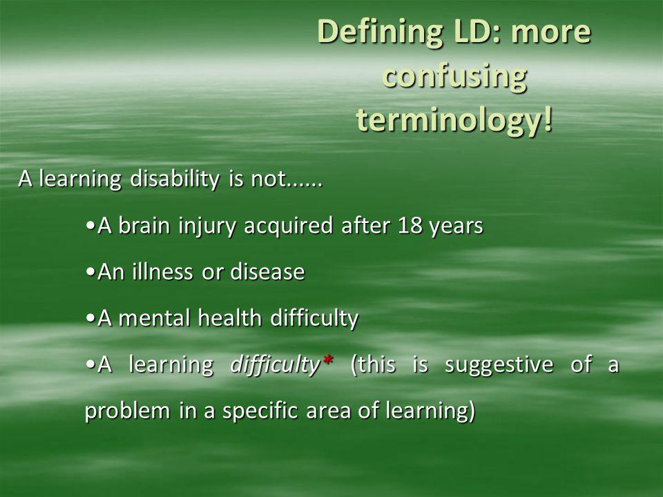 Defining LD: more confusing terminology!