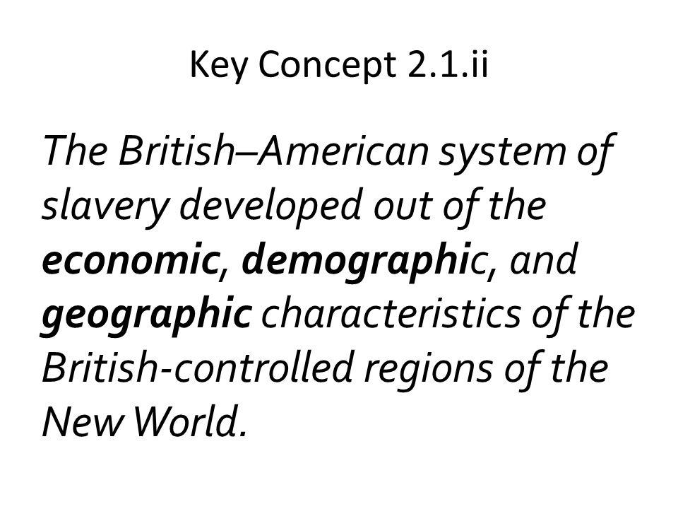 Key Concept 2.1.ii